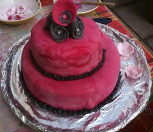 un gâteau à étage pour mes collègues de formation